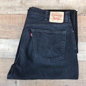 Levis 560 40x30 Comfort Fit Loose Black Jeans